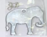 Светоотражающая подвеска «слон» с цепочкой