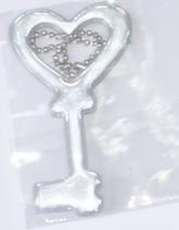 Светоотражающая подвеска «ключ» с цепочкой